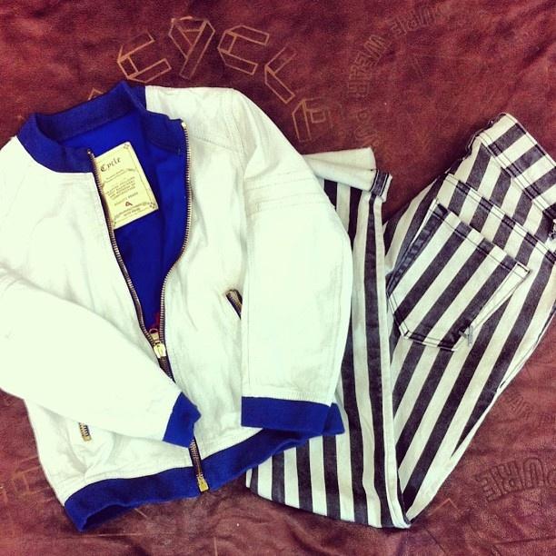 #cyclejeans #cycleonweb #jeans #denim #jacket #stripes