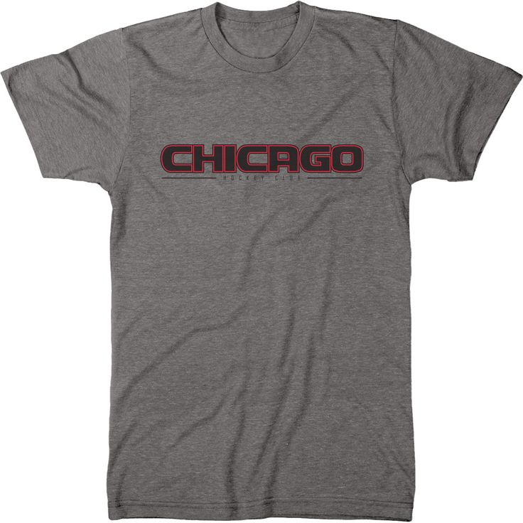 Trunk Candy Mens Chicago Hockey Club Premium Tri-Blend T-Shirt