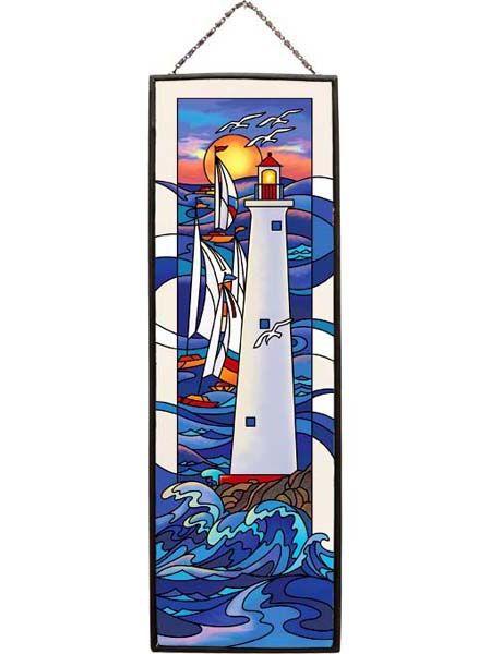 Art Panel-AP232R-Sailboats & Lighthouse - Sailboats & Lighthouse