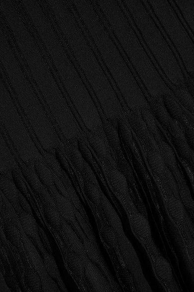 Alaïa - Knitted Mini Dress - Black - FR38
