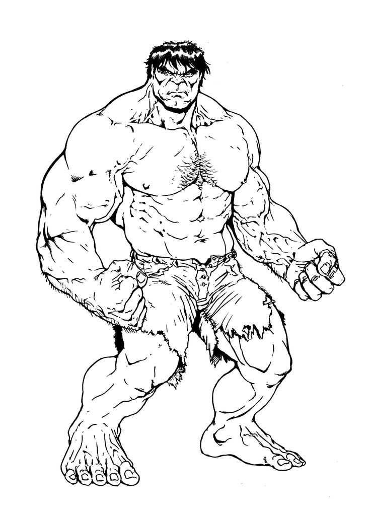 children coloring pages to print and color | Hulk 1 coloring pages for kids printable free | Детские ...