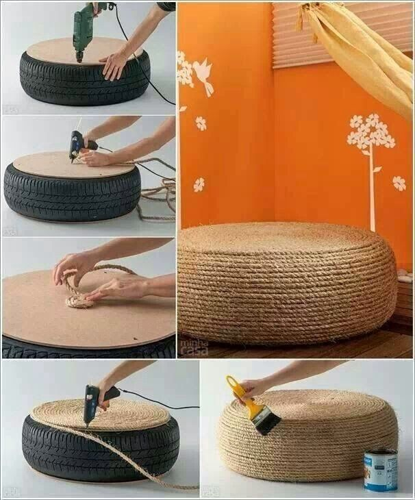 25 Creative Ideas To Reuse Old Tires. #4 would be great on a porch