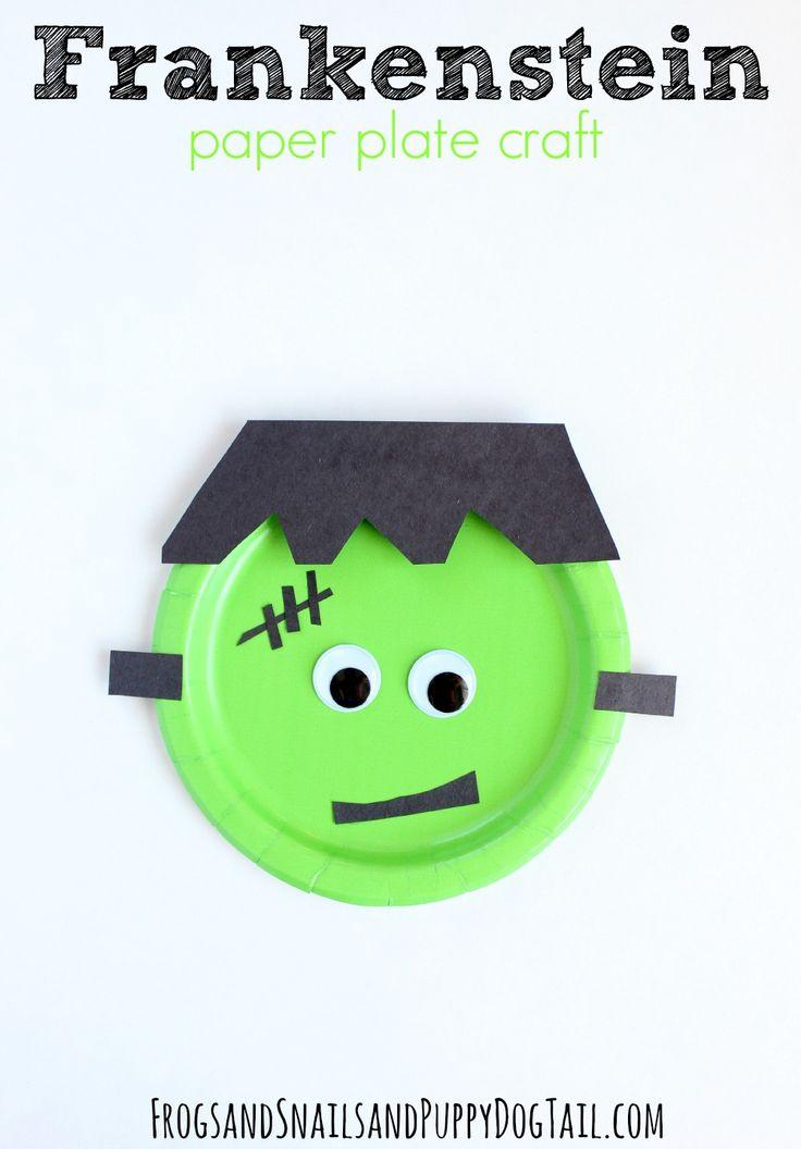 Frankenstein Paper Plate Craft