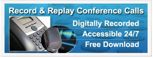 Record and Replay #conference #call #replay http://earnings.remmont.com/record-and-replay-conference-call-replay-3/  #conference call replay # Record and Replay a Conference Call Call recording provides an accurate record of what was said, by whom and when. It avoids the need for repetition or speaking slowly, creates voice files to attach to client records and provides a perfect aid to training, dispute resolution and compliance requirements. Recording and Replay ConferTel s recording…