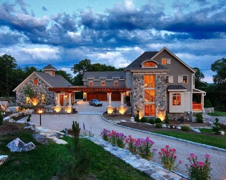 Architecture, Lighting As The Style Home The Example As Your Decoration Reve Dream Homes Home Grey Color Wall Large Shaped Picture Red Color Flowers On The Yard Picture Decoration ~ Cool And Best Concepts Of Reve Dream Homes That You Can Design As Your Best Real Home That You Have
