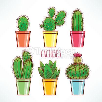 cactus dibujo - Buscar con Google