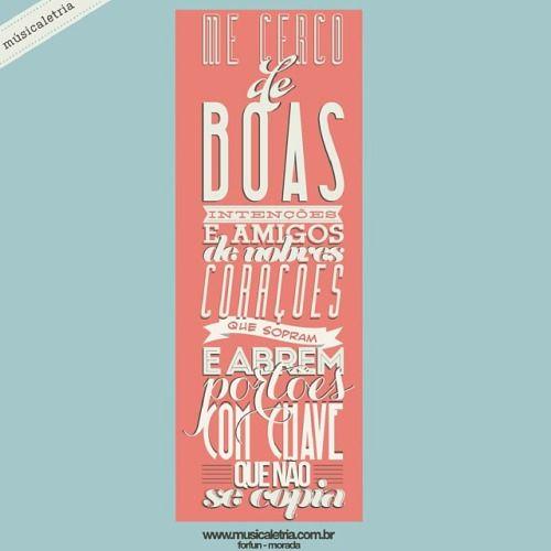 morada - forfun  www.musicaletria.com.br #musicaletria #tipografia…