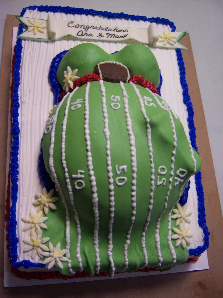 Football Themed Baby Shower Cake For A Boy | Baby Shower Cakes | Pinterest  | Themed Baby Showers, Shower Cakes And Boys