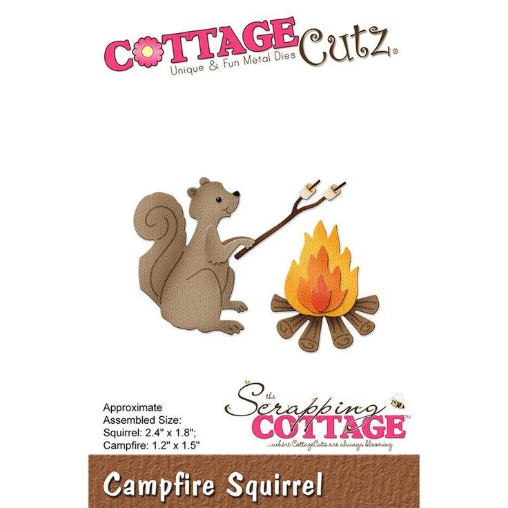 """CC-250  CottageCutz Die """"Campfire Squirrel"""""""