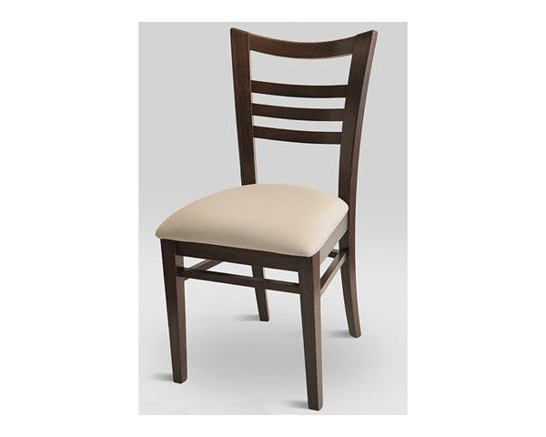 SIDE CHAIR WITH UPH SEAT CHOICE OF FABRIC RECOVERY ANDFINISH. Suitable for hospitality and residential use. Also, bar stool can be cut down to counter height.