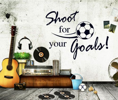 Shoot FOR Soccer Wall Stickers Quotes Decal Removable Mural Deco Vinyl Home Kids | eBay