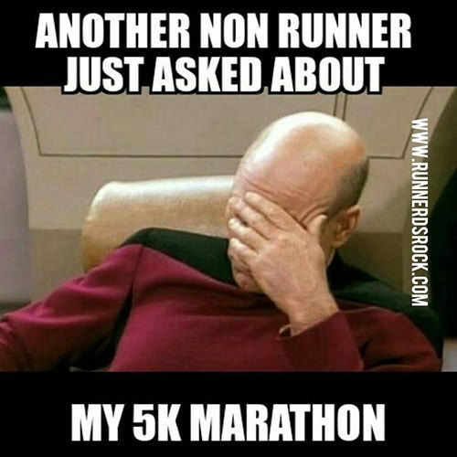 Running Humor #189: Another non-runner just asked about my 5K marathon.