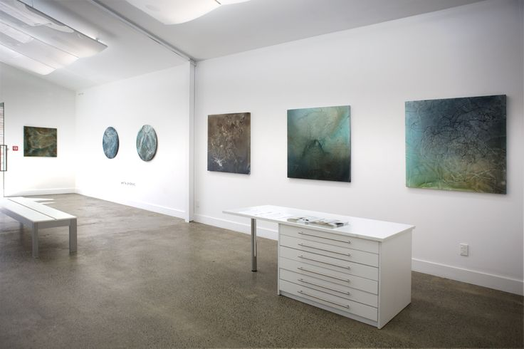 water colour on canvas, Anita Levering @ Sanderson Gallery, Auckland, 2015