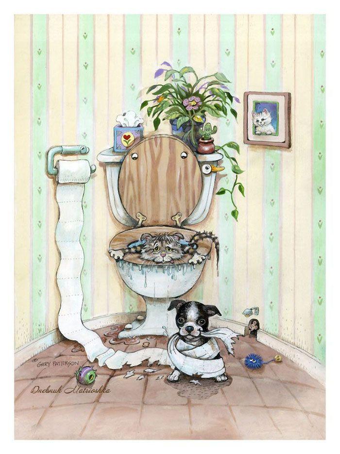 Открытки в туалете