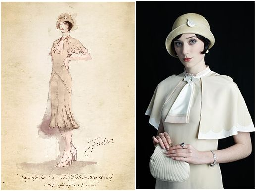 """Elizabeth Debicki como Jordan Baker en """"El gran Gatsby"""" (2013). Diseño de vestuario: Catherine Martin"""