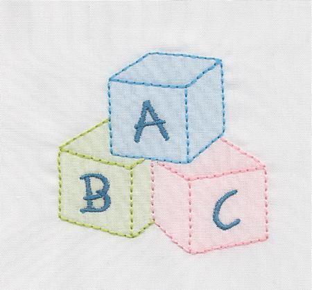 Shadow Work & Embroidery :: Babies :: Shadow ABC Blocks Machine Shadow Work