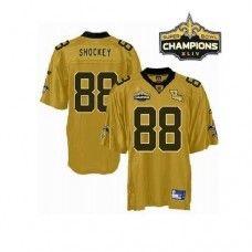 Saints #88 Jeremy Shockey Gold Super Bowl XLIV 44 Champions Stitched NFL Jersey