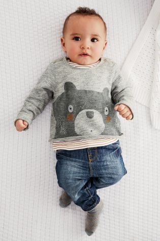 Buy Bear Jersey Jumper (0-18mths) from the Next UK online shop