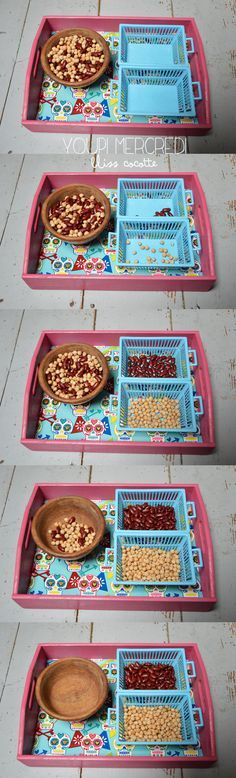 seperating colours excellent fine motor control activity **great fine motor idea**