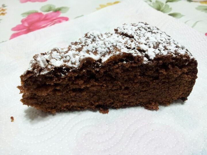 Torta amaretti e cioccolato fondente #cake #chocolate