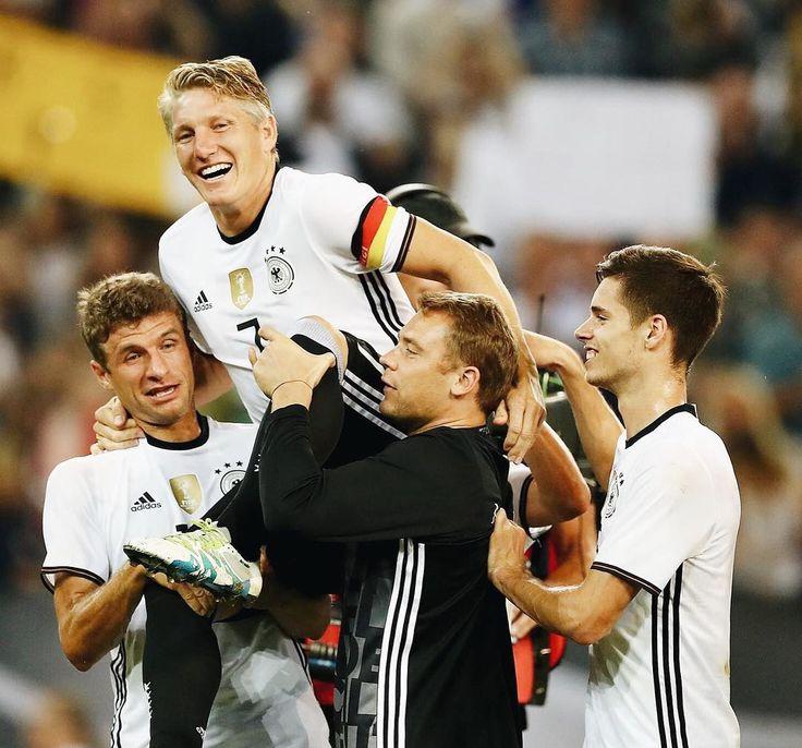 "338 Likes, 2 Comments - DFB-Team (@germany_nt) on Instagram: ""Haha a bit struggling there!  #ServusBasti #germany #germanynt #dfbteam #diemannschaft…"""