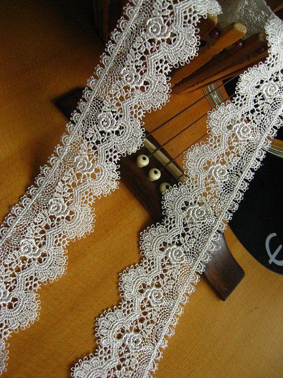 off White Lace Trim venise lace trim scollaped lace by LaceFun