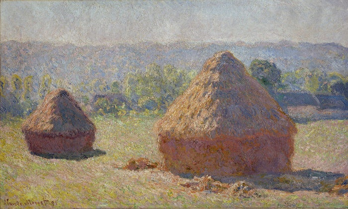 Kandinsky si innamora di questo dipinto.  Covoniallafine dell'estate, EffettoMattina(1890)  - Monet Claude (1840-1926) -