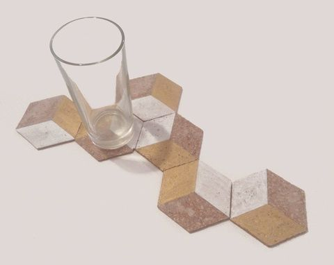 Hexagon poháralátét 6db, Konyhafelszerelés, Dekoráció, Edényalátét, Dísz, Meska