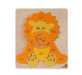 Puzzle on the pins - the lion.