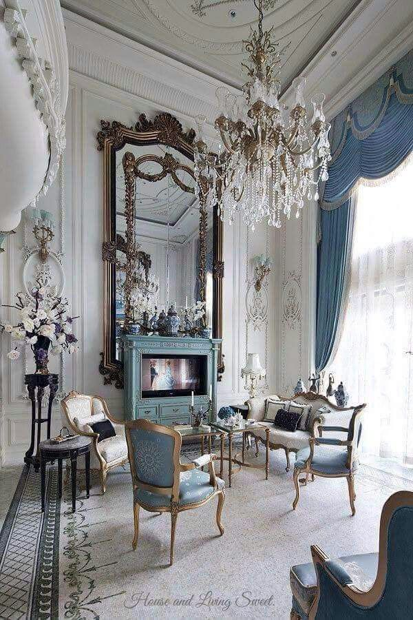 23 Stunning Living Room Designs To Inspire Your Next Remodel. Blue  InteriorsFrench ...
