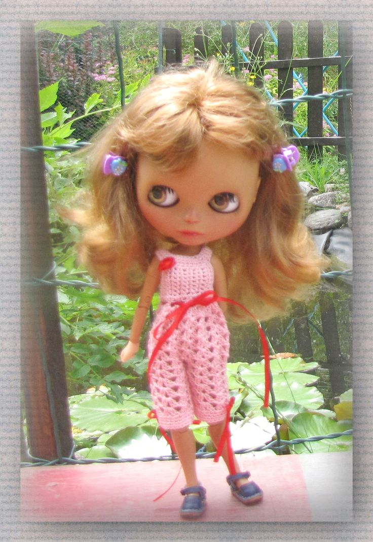 Crocheted Overal for Blythe Doll (Azone Body)  FREE Shipping by Shopdollwithowl on Etsy