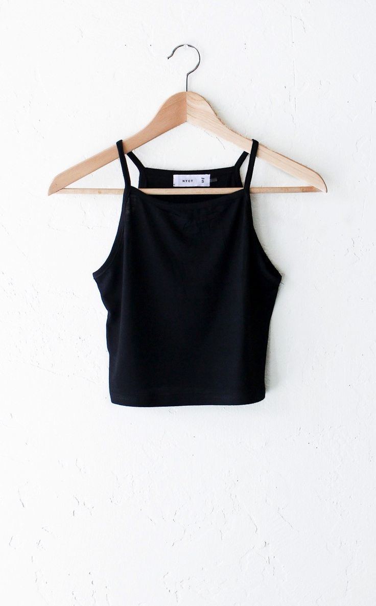 - Description - Size Guide Details: Super cute basic knit cami crop top in black. Form fitting, tend to run on the smaller side & are more fitted. 95%Rayon, 5% Spandex. Imported. Sizing: (click size g