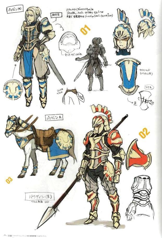Character Design Concept : Fire emblem awakening concept art character design