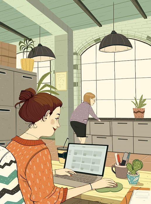 Laura Pérez aborda, en la revista canadiense Coup de Pouce, la receta del buen humor en el trabajo.