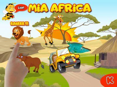 Mia Africa - Jouer, découvrir, nourrir et apprendre le nom des animaux d'Afrique