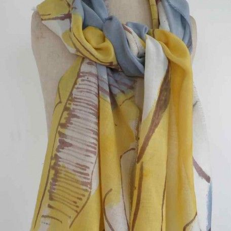 Dionne Swift Hand painted fine wool 195 x 45cm scarf http://www.dionneswift.co.uk