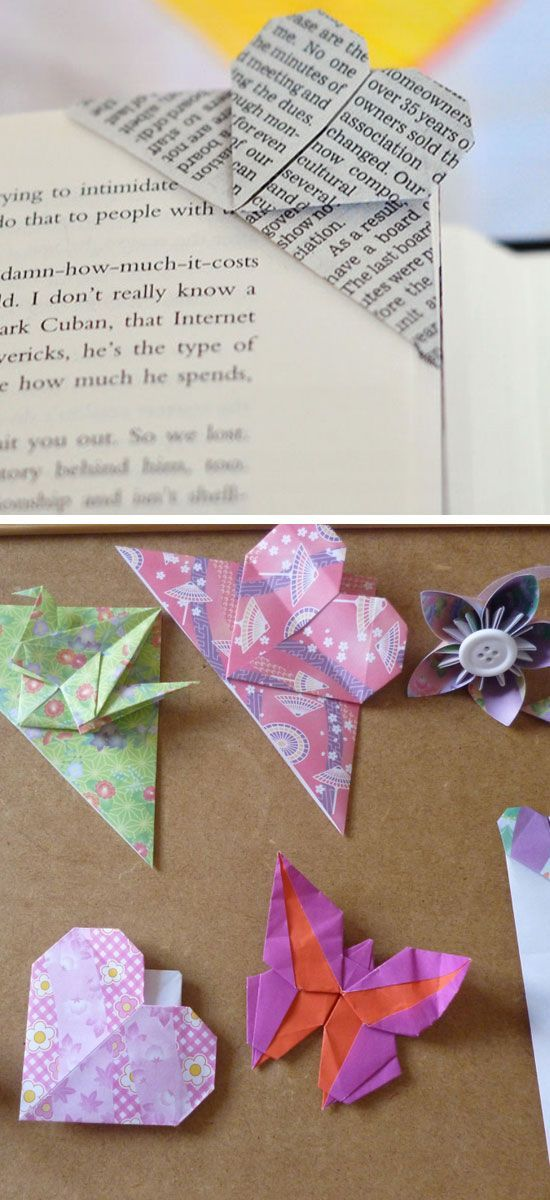 How to Fold a Corner Heart Bookmark Origami | DIY Valentine Gifts for Boyfriend for Teens
