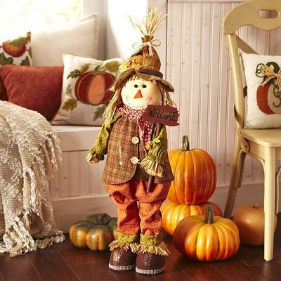 sawyer scarecrow fall harvest decorationsthanksgiving - Harvest Decorations