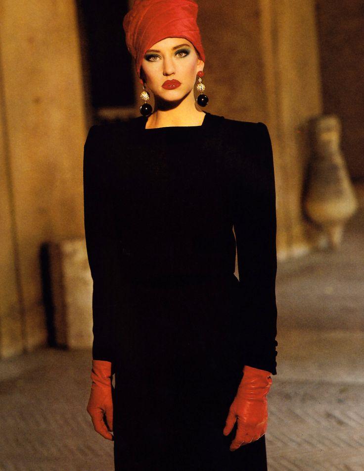 Valentino, Harper's Bazaar, September 1985.