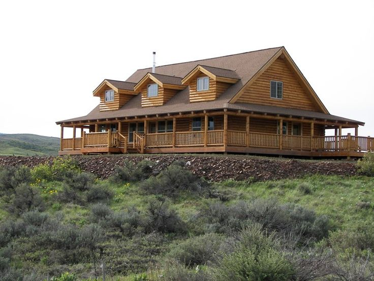 17 best images about one story ranch farmhouses with wrap for Log homes with wrap around porch