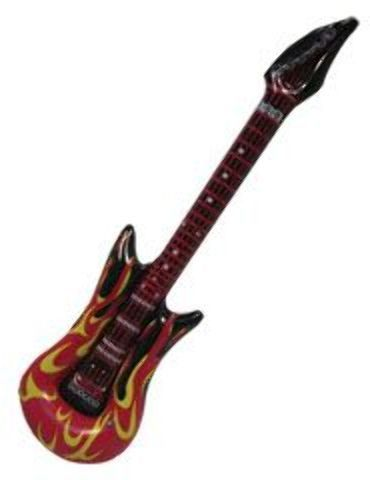 """40"""" fire and flames inflatable guitar Case of 72"""