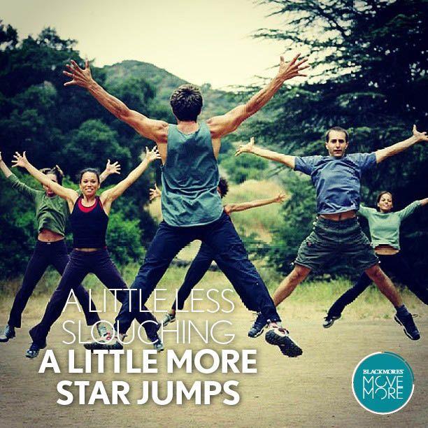 A little less slouching a little more star jumps