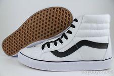 Vans SK8 HI Reissue True White Black Canvas Classic Skate High US MEN Sizes | eBay