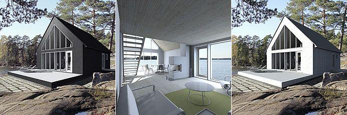 Sunhouse M3 - triptych. Architect: Jarkko Könönen.