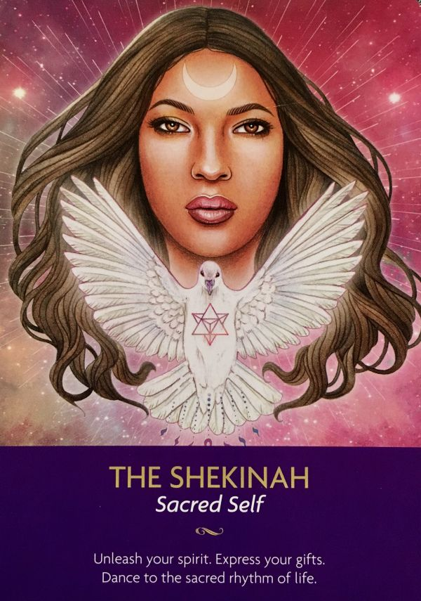 """February 26/3017 Daily Angel Oracle Card: The Shekinah, from the Keepers Of The Light Oracle Card deck, by Kyle Gray, Artwork by Lily Moses The Shekinah: """"Sacred Self"""" """"Unleash your Spirit. Expres…"""