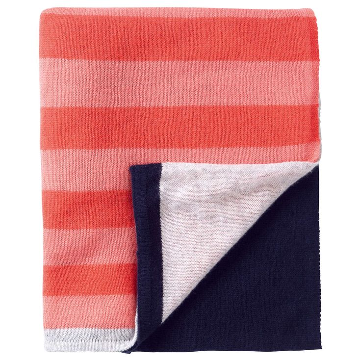 BuyPure Collection Gassato Cashmere Textured Scarf, Coral/Navy Online at johnlewis.com