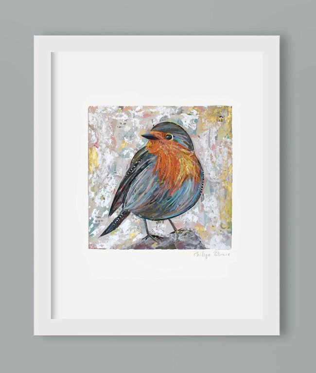 """ROBIN BIRDS IX"" // NEW ART PRINT AVAILABLE // A3 or A4 // small edition from the original artwork by ©philippe patricio // all rights reserved //"