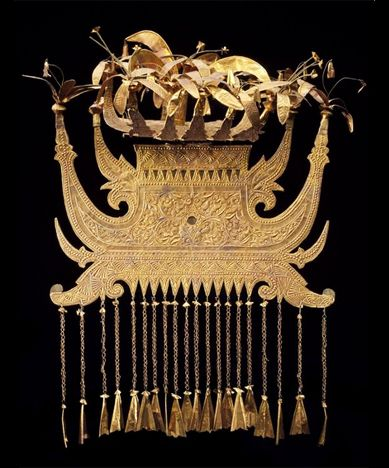 Headdress, Gold and Gold foil. Minangkabau, ca late 19th to early 20th c. Indonesia/Sumatra