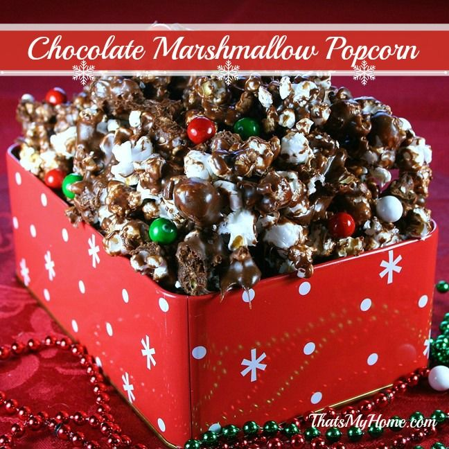 Chocolate Marshmallow Popcorn - That's My Home