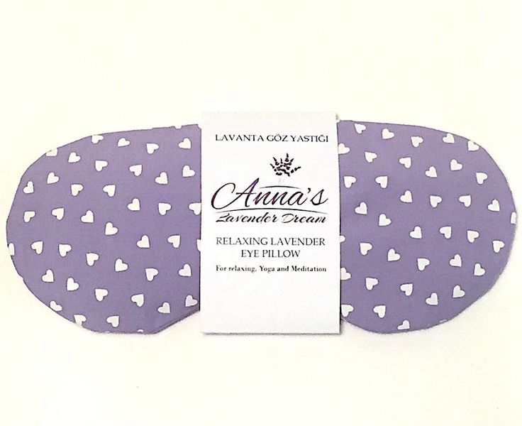 Relaxing Lavender Eye Pillow - Sweetheart by AnnaLavenderDream on Etsy